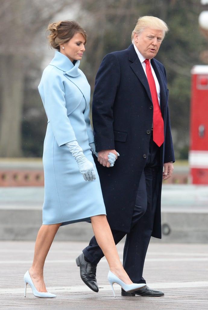 Melania's Blue Inauguration Heels