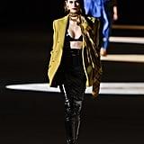 Kaia Gerber on the Saint Laurent Fall 2020 Runway at Paris Fashion Week