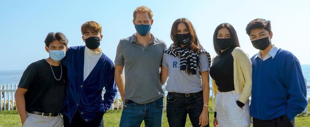 Meghan Markle Wears Ruth Bader Ginsburg Shirt and Face Mask