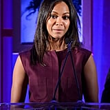 Zoe Saldana attended the Children's Defense Fund Beat the Odds Awards in Beverly Hills.