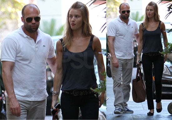 Pictures of Rosie Huntington-Whiteley and Jason Statham in LA