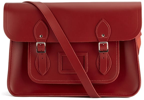 The Cambridge Satchel Company 15 Inch Classic Leather Satchel Red ($184)