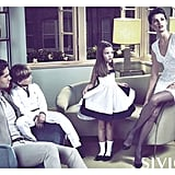 Siviglia shows Isabeli Fontana as the matriarch of a sleek Italian family. Source: Fashion Gone Rogue