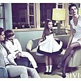 Siviglia shows Isabeli Fontana as the matriarch of a sleek Italian family. Source: Fashion Gone Rogue