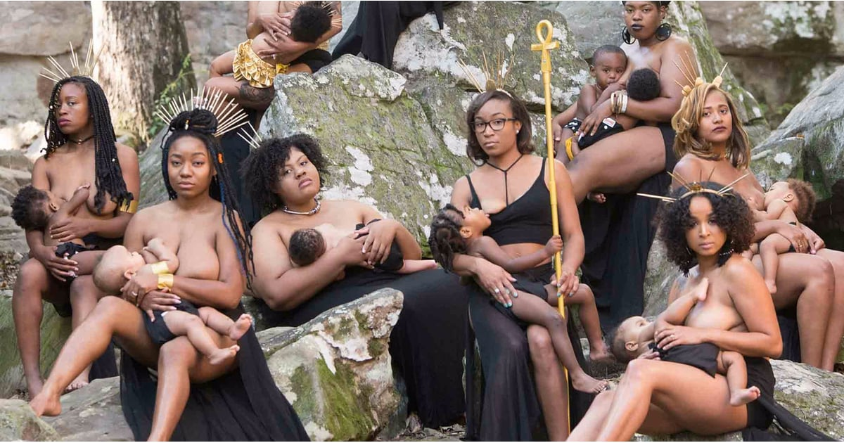 Women Of Color Breastfeeding Photo Shoot  Popsugar Family-5964