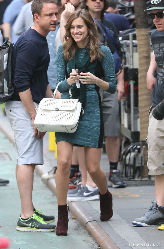 Allison Williams filmed Girls on Monday in NYC.