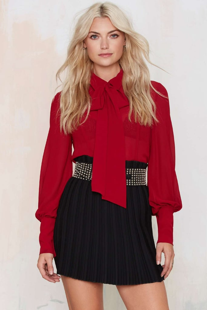 Nasty Gal Madmosiselle Pussy Bow Blouse ($58)