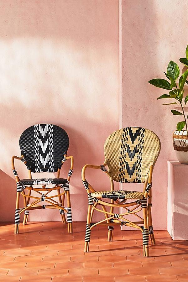Capri Striped Indoor/Outdoor Bistro Chair