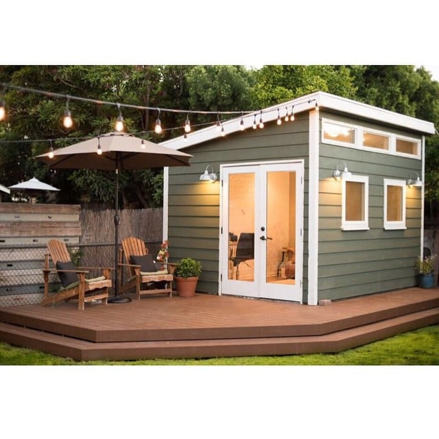 Office sheds shed renovation ideas popsugar home photo 9 for Outside office shed