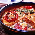 Fast & Easy Dinner: Goat Cheese and Tomato Strata