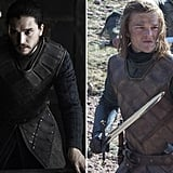 Here's Jon next to a young Ned, both in the Stark armor.