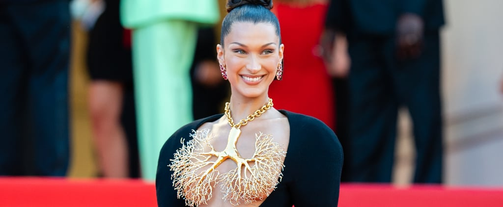 Bella Hadid Wears Sexy Schiaparelli Outfit at Cannes