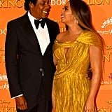 The couple exchanged sweet glances at the European premiere of The Lion King in July 2019.