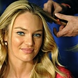 Candice Swanepoel got her hair done before a fashion show.