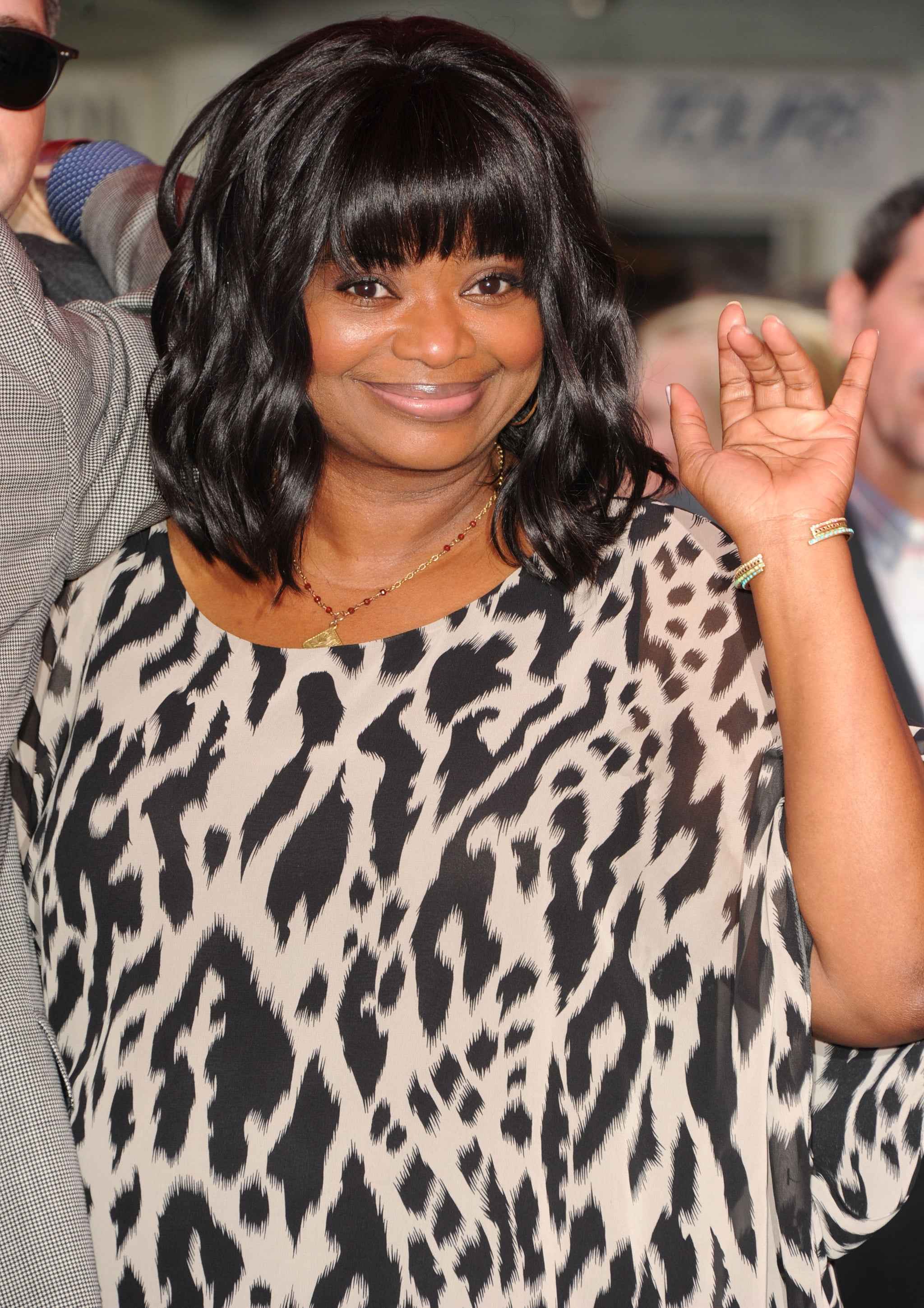 Octavia Spencer gave a wave when she arrived at TCL Chinese Theatre.