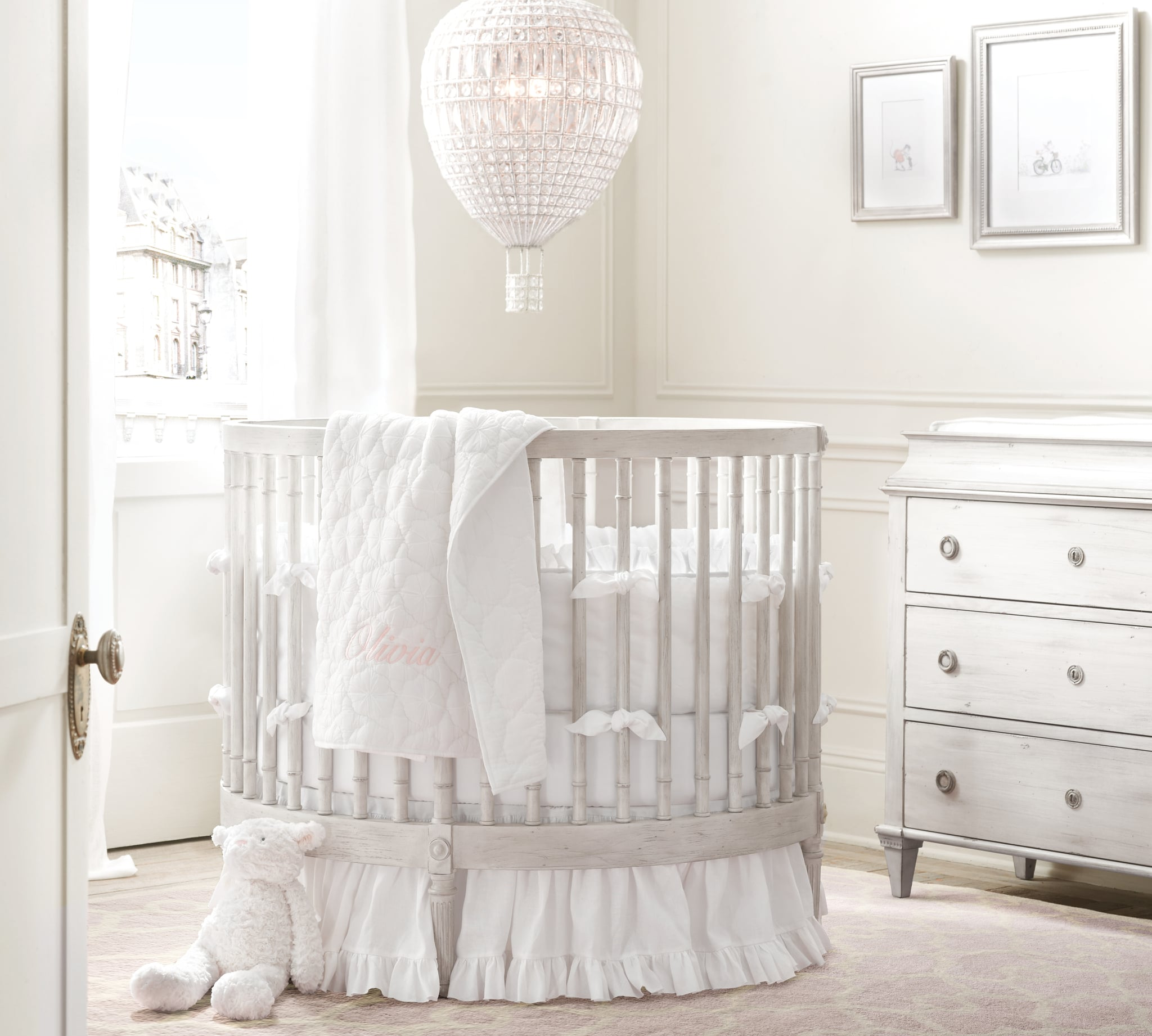 Up, Up, and Away in This Whitewashed Nursery