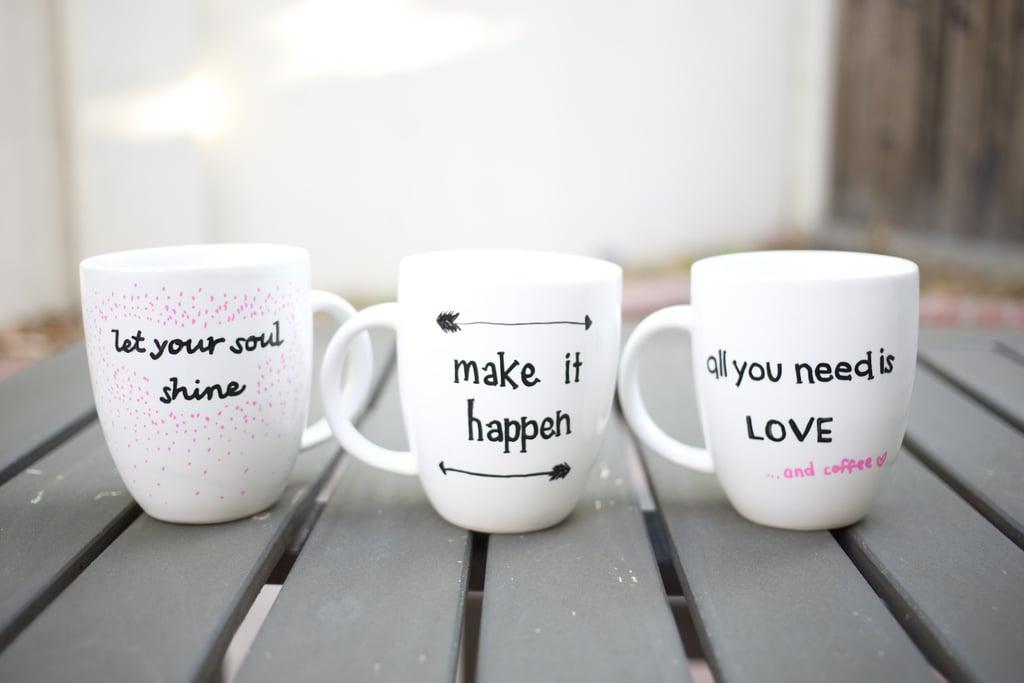 Inspirational Sharpie Mugs