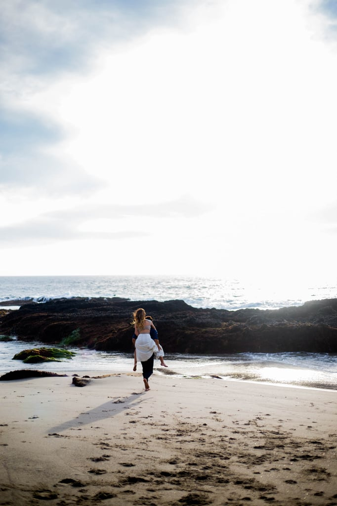 This Couple Totally Reminds Us of a Modern Ariel and Eric in Their Beach Engagement Shoot
