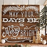 May Your Days Be Merry And Bright Personalized Wooden Plaque