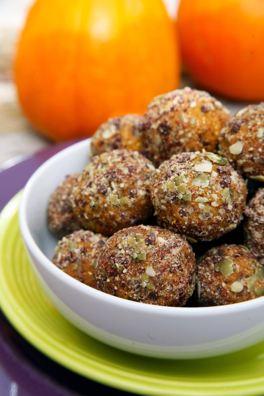 Bite-Size Protein Balls to Satisfy Your Pumpkin Pie Cravings