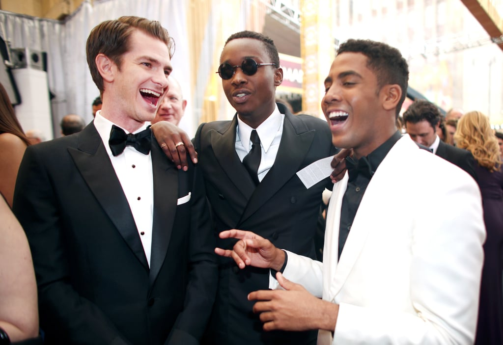 Pictured: Andrew Garfield, Ashton Sanders, and Jharrel Jerome