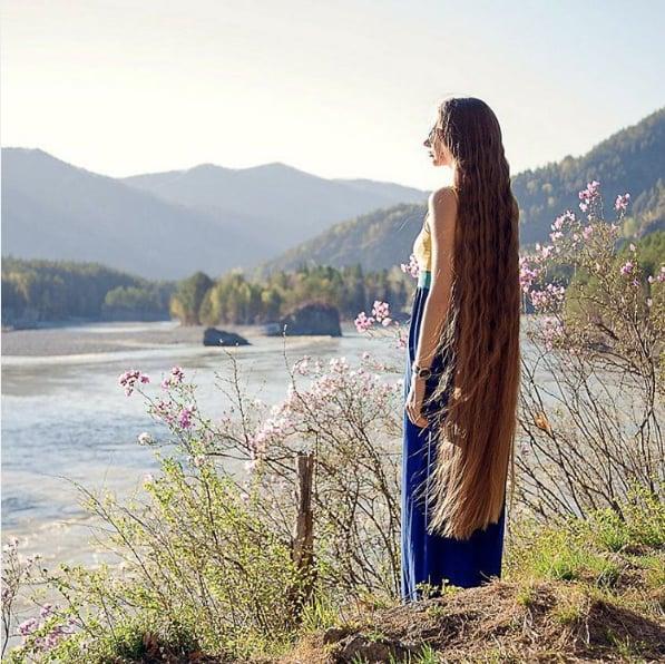 Dashik Gubanova Freckle's Long Hair