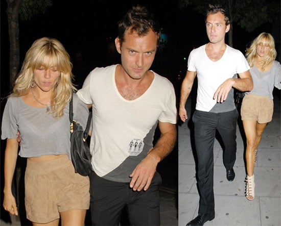 Pictures of Sienna Miller and Jude Law Leaving The Dead Weather Show