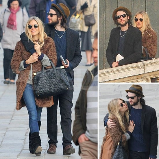 Sienna Miller and Tom Sturridge Kissing Venice Pictures