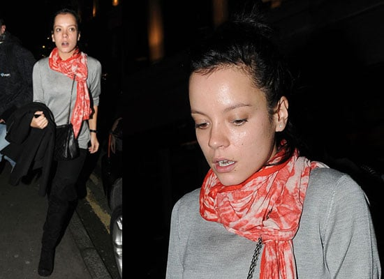 Photos of Lily Allen Wearing No Makeup in London as Joss Stone Criticises Her