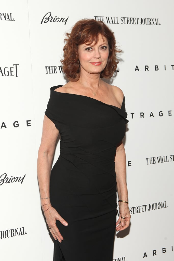 Susan Sarandon showed off her physique in a black dress on the red carpet of the Arbitrage premiere in NYC.