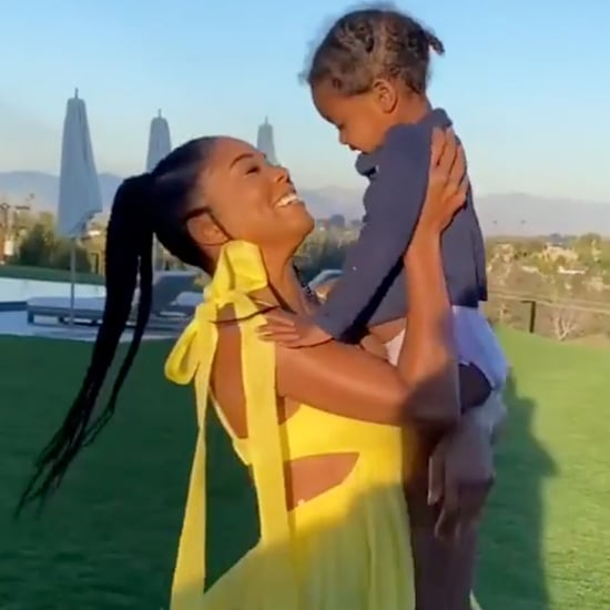 Gabrielle Union Teaches Kaavia James How to Go Down a Slide
