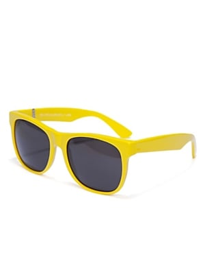 A classic shape with a pumped-up bright yellow hue.  Super Sunglasses in Yellow ($130)