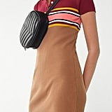 UO Striped Button-Down Polo Dress