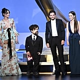 Lena Headey, Peter Dinklage, Kit Harington, and Emilia Clarke at the 2019 Emmys
