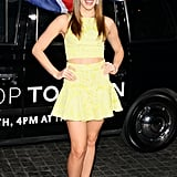 Christa B. Allen wore a fun yellow ensemble.