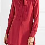 Equipment Natalia Pussy-Bow Washed-Silk Mini Dress ($373.41)