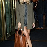 Mulberry played host to Suki during Fashion's Night Out, when she managed to pull off a beret and ankle socks.