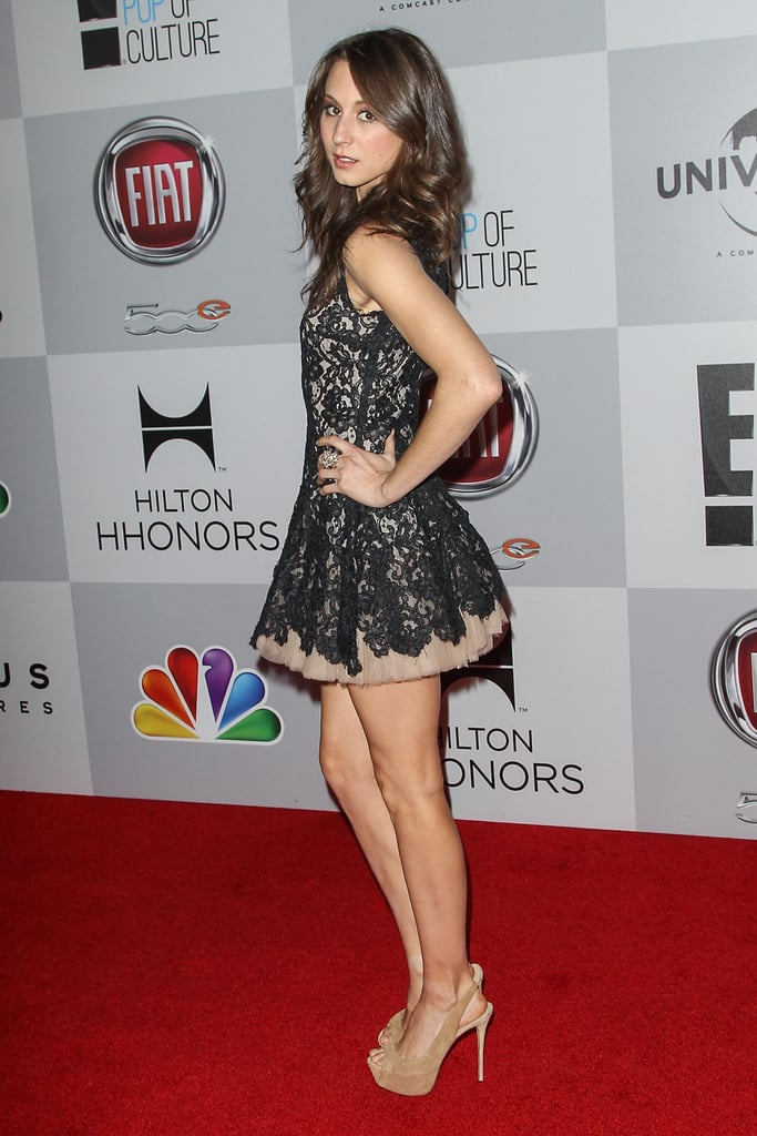 Troian showed off her legs in a mini dress.