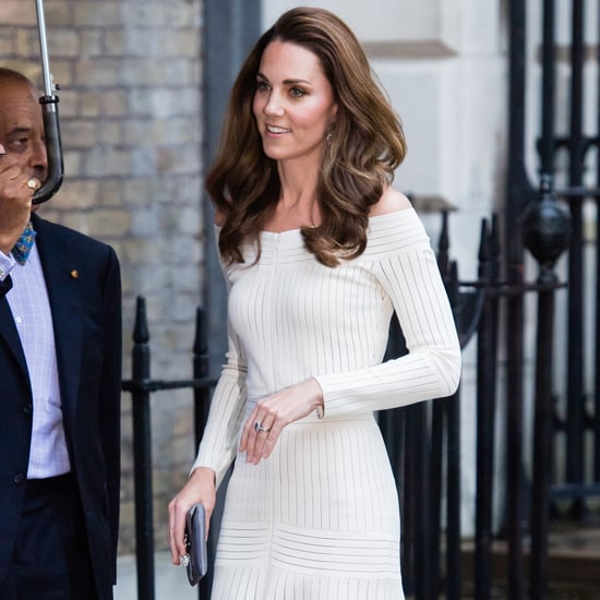 Kate Middleton in White Off-the-Shoulder Dress June 2019