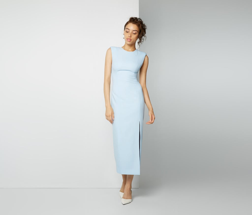 From The Front The Fame And Partners Pale Blue Grayson Dress 249