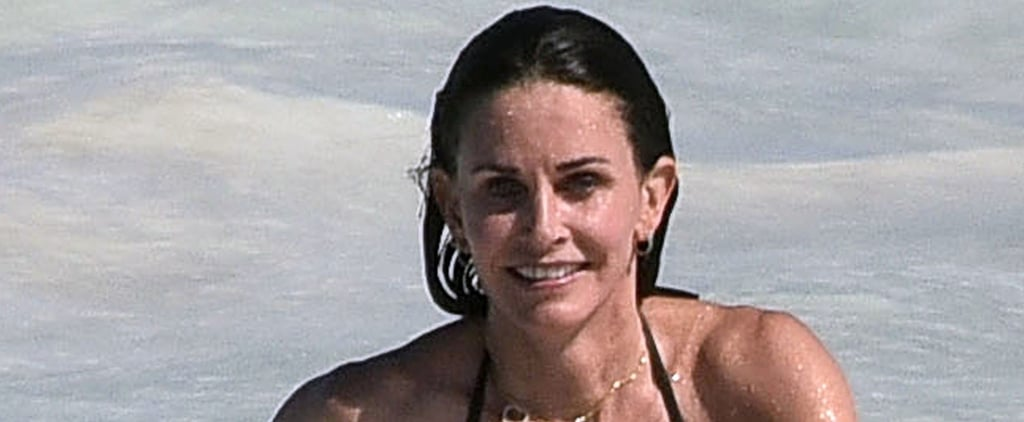 Courteney Cox Splashes Around in the Bahamas With Daughter Coco