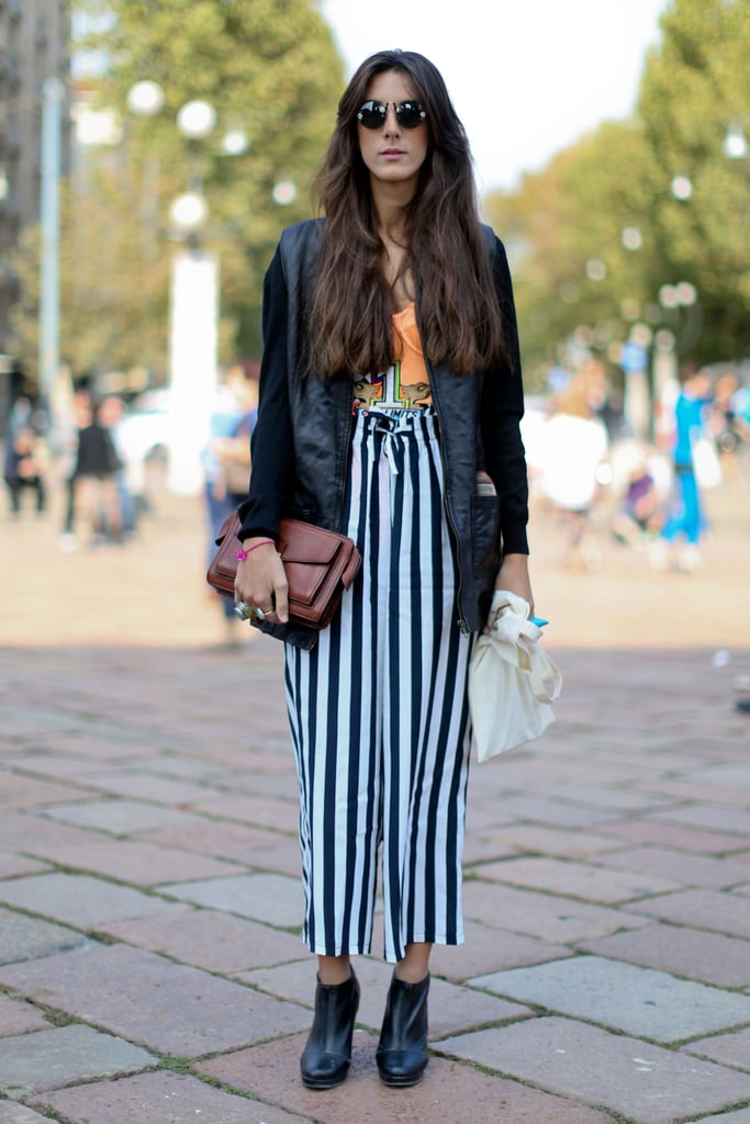 Stripes on bottom furthered this funky mix-and-match.