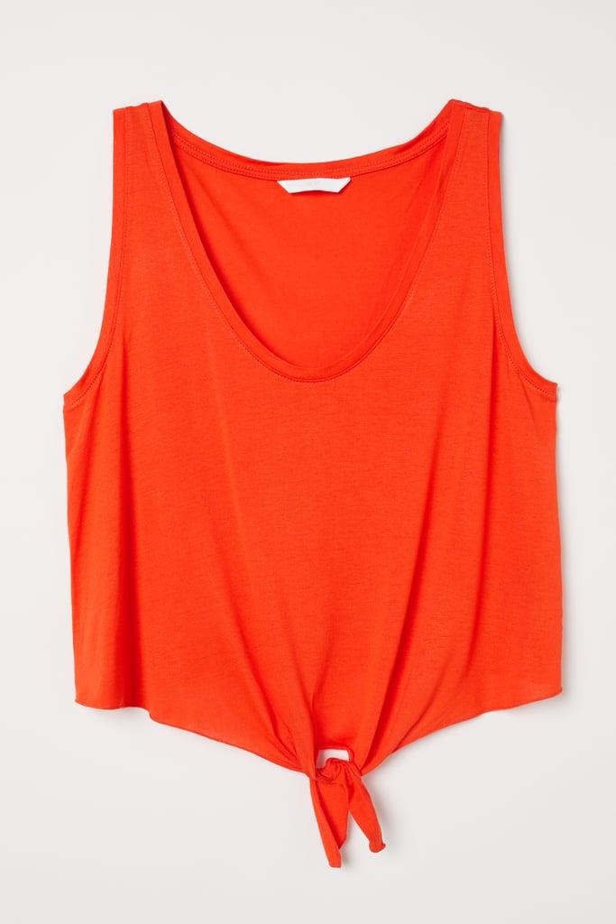 H&M Sleeveless Tie Hem Top ($7.99)