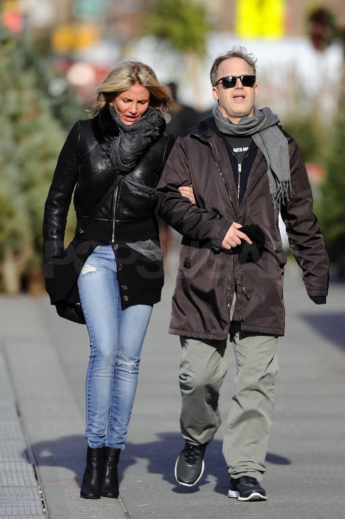 Cameron Diaz layered up in NYC yesterday and strolled arm in arm with a friend following a lunch at Morandi. She's been in the Big Apple for the past few weeks and allegedly has been spending time with a different guy, Diddy. Cameron's heading into 2012 as a newly single lady following her breakup with Yankee's slugger Alex Rodriguez. She's also got plenty to look forward to in terms of her acting career with two films, What to Expect When You're Expecting and Gambit, slated for Summer releases. Cameron's fit frame put her among the ladies who made our list of hottest bikini bodies of 2011, and it also makes her a strong competitor for the title of FitSugar's fittest female celebrity — be sure to cast your vote now!
