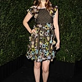 Bella Heathcote chose a floral chiffon dress from Chanel's Spring '13 collection, which proved flirty and feminine.