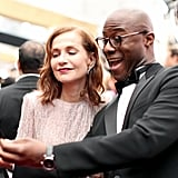 Pictured: Isabelle Huppert and Barry Jenkins