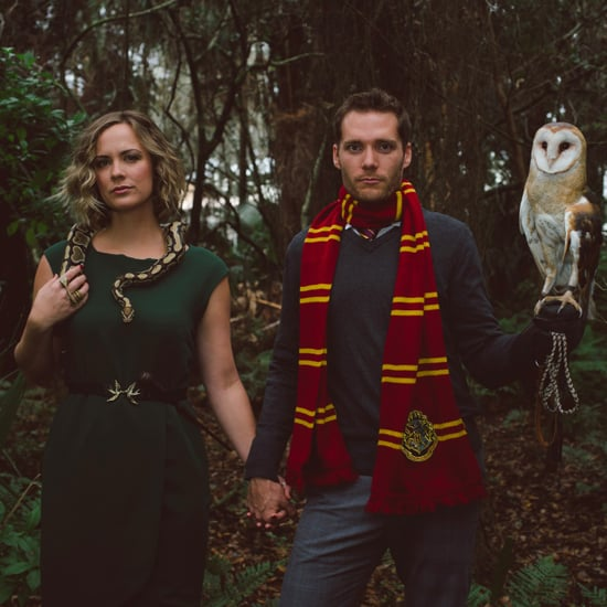Gryffindor vs. Slytherin Harry Potter Engagement Shoot