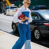 Buttoned All the Way to the Top With Wide-Leg Jeans