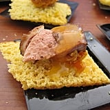 Short Rib on Corn Bread Crostini
