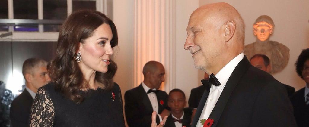 Kate Middleton Black Lace Diane von Furstenburg Dress